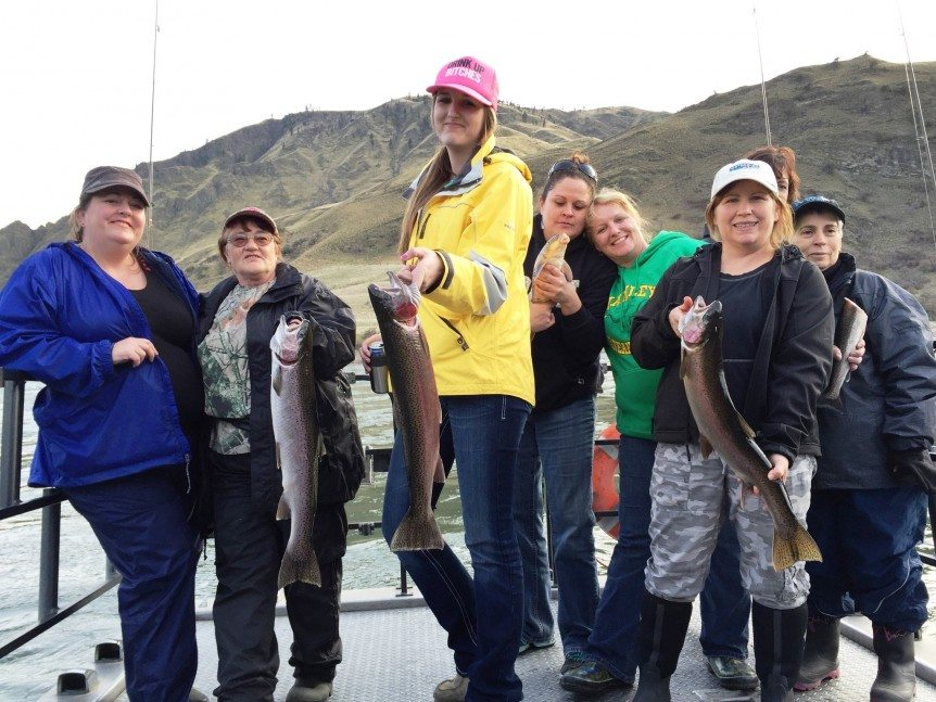 Kerri Krasch Group catches a few of fish during their WWB adventure. Way to go Girls